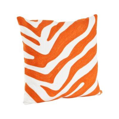 Zebra Cotton Throw Pillow Color: Tangerine