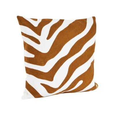 Zebra Cotton Throw Pillow Color: Topaz