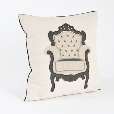 Chaise de Salon Armchair Design Throw Pillow