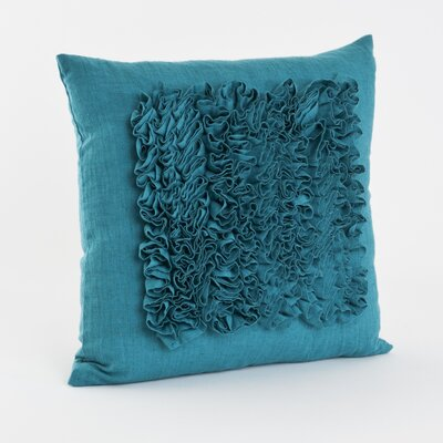 Ruffled Throw Pillow Color: Turquoise