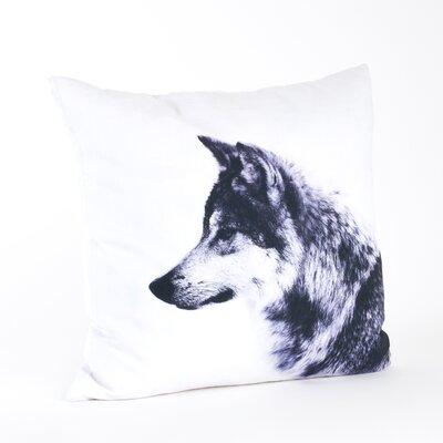 Wolf Cotton Throw Pillow