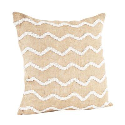 Beaded Cotton Throw Pillow