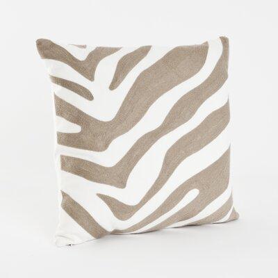 Zebra Cotton Throw Pillow Color: Taupe