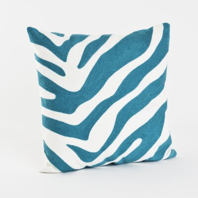 Zebra Cotton Throw Pillow Color: Turquoise