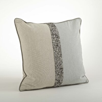 The Posh 2 Tone Beaded Cotton Throw Pillow
