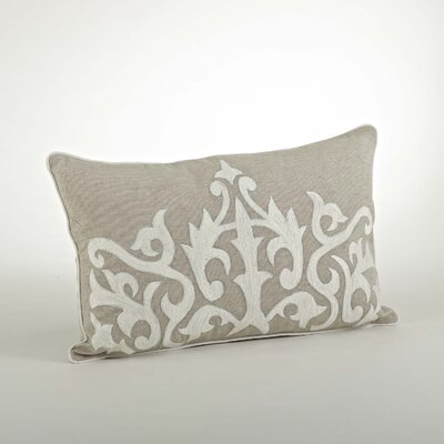 The Posh Embroidered Cotton Throw Pillow