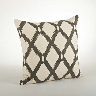 Dakota Ari Embroidered Cotton Throw Pillow Color: Gray