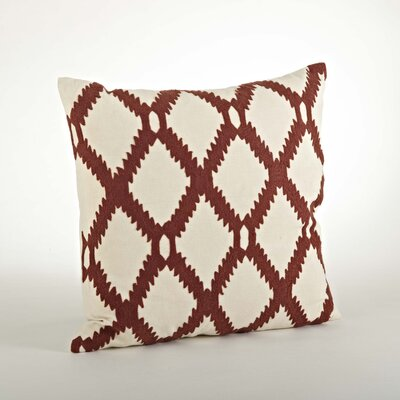 Dakota Ari Embroidered Cotton Throw Pillow Color: Rust