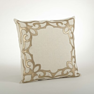 Ottavia Cutwork Cotton Throw Pillow Color: Gold