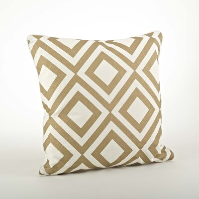 Camila Printed Diamond Cotton Throw Pillow Color: Gold