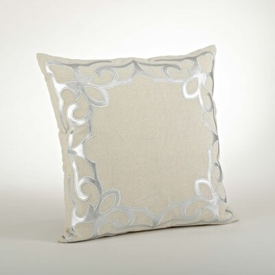 Ottavia Cutwork Cotton Throw Pillow Color: Silver