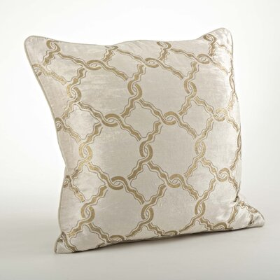 Velours Velvet Chain Link Cotton Throw Pillow Color: Gold