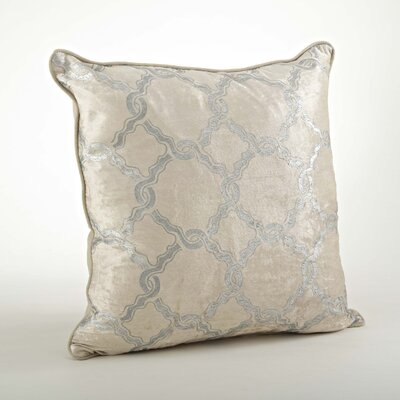 Velours Velvet Chain Link Cotton Throw Pillow Color: Silver
