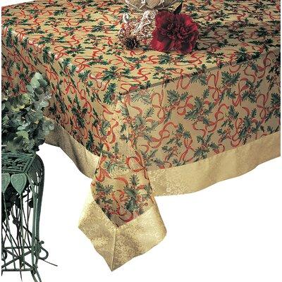 "Printed Christmas Tablecloth Size: 0.25"" H x 104"" W x 65"" L XJ378.GL65104B"