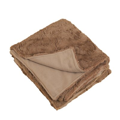 Plush Throw Color: Brown