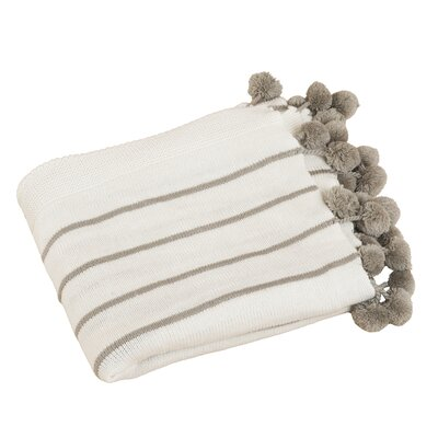Pompon Design Throw Color: Ivory