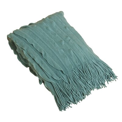 Ruffle Throw Blanket Color: Sea Green