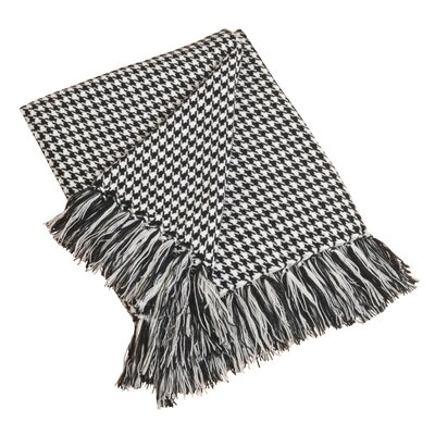 Houndstooth Throw Color: Black