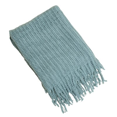 Knitted Throw Blanket Color: Sea Green