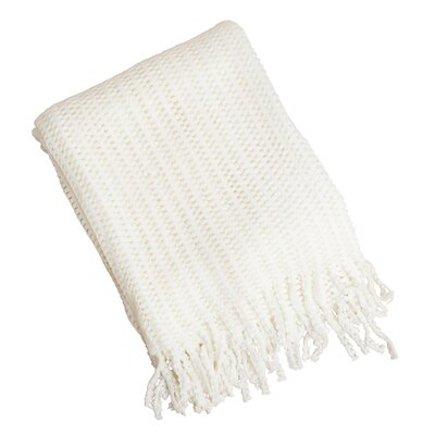 Knitted Throw Blanket Color: Vanilla