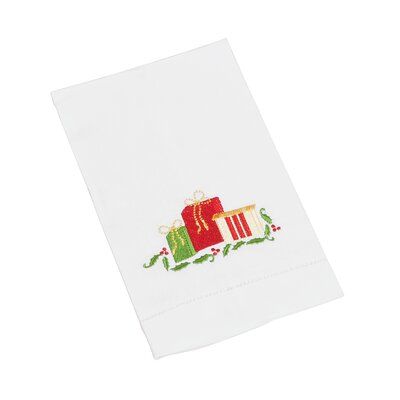 Christmas Hemstitched Gift Box Hand Towel