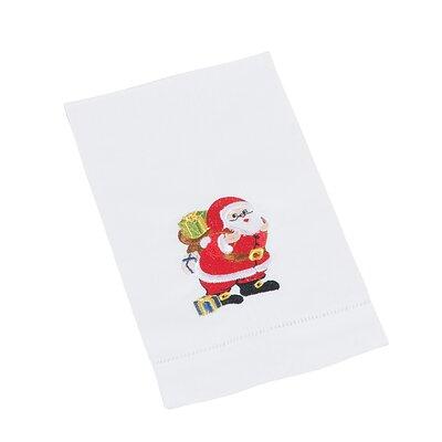 Christmas Hemstitched Santa Hand Towel