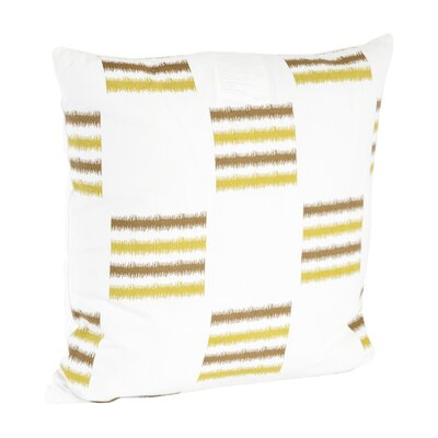 Sonya Line Design Cotton Throw Pillow Color: Chartreuse