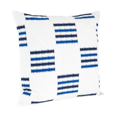 Sonya Line Design Cotton Throw Pillow Color: Cobalt Blue