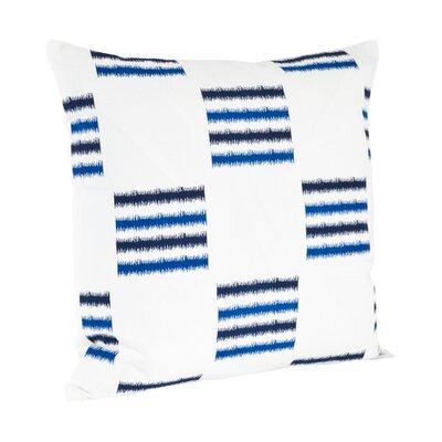 Sonya Line Design Cotton Throw Pillow Color: Cobalt Blue