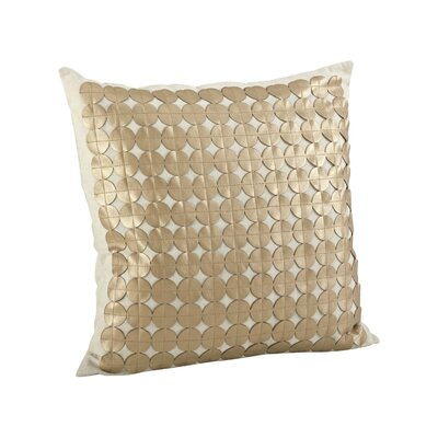 Amalia Circle Cutwork Cotton Throw Pillow Color: Gold