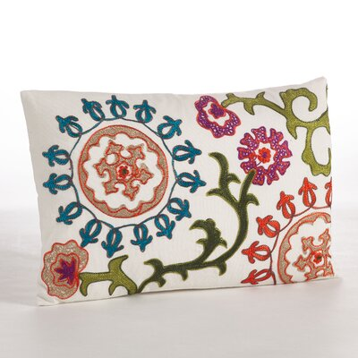 Embroidered Cotton Throw Pillow