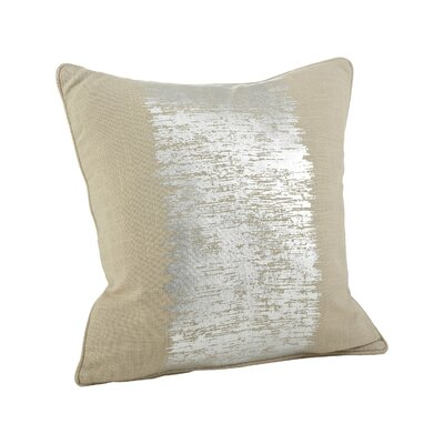 Eleni Metallic Banded Cotton Throw Pillow