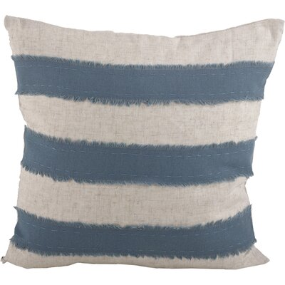 Cap Ferrat Banded Cotton Throw Pillow Color: French Blue