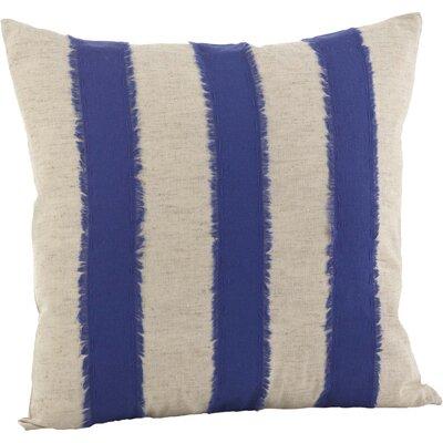 Cap Ferrat Banded Cotton Throw Pillow Color: Cobalt Blue