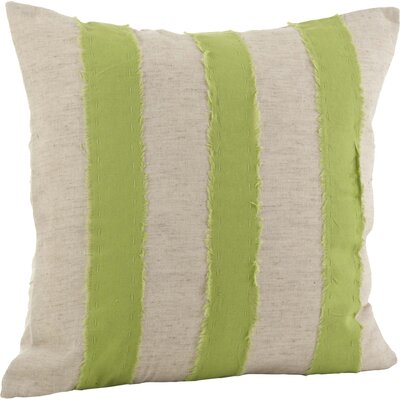 Cap Ferrat Banded Cotton Throw Pillow Color: Lime