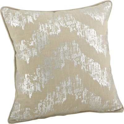 Lydia Metallic Chevron Cotton Throw Pillow
