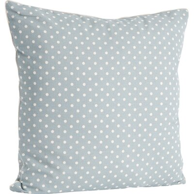 Ellie Dotted Design Throw Pillow Color: Blue/Gray