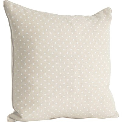 Ellie Dotted Design Throw Pillow Color: Natural
