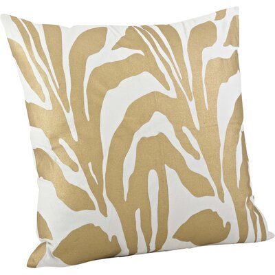 Malawi Animal Print Cotton Throw Pillow Color: Gold