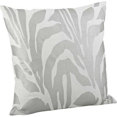 Malawi Animal Print Cotton Throw Pillow Color: Silver