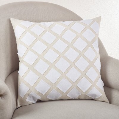 Paros Appliqu� Design Cotton Throw Pillow