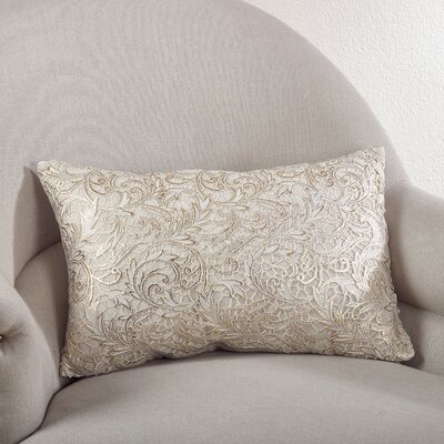 Lace Design Cotton Lumbar Pillow