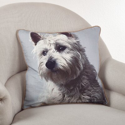 Westie Cotton Throw Pillow