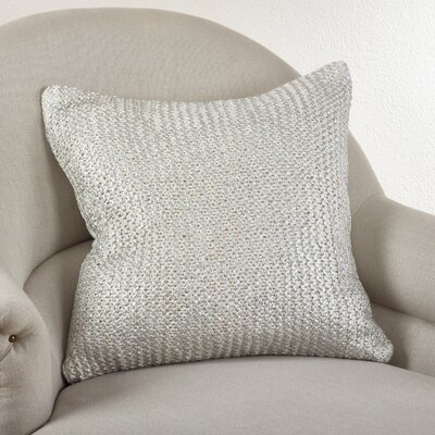 Cassandra Knitted Cotton Throw Pillow Color: Ivory