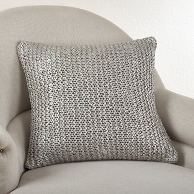 Cassandra Knitted Cotton Throw Pillow Color: Natural
