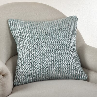 Cassandra Knitted Cotton Throw Pillow Color: Aqua