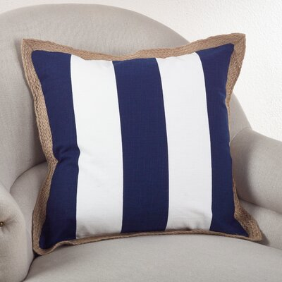 Saint John Cotton Throw Pillow Color: Navy Blue