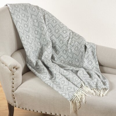 Jacquard Throw Blanket Color: Gray