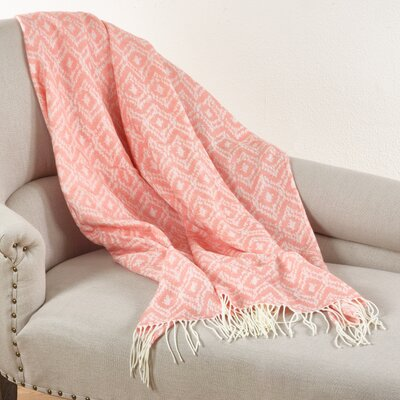 Jacquard Throw Blanket Color: Pink
