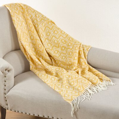 Jacquard Throw Blanket Color: Saffron